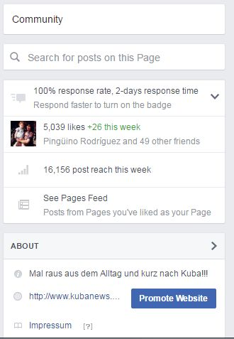 Statistik-Screenshot Facebook
