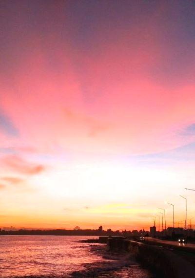 Sonnenaufgang am Malecon, Havanna, Kuba