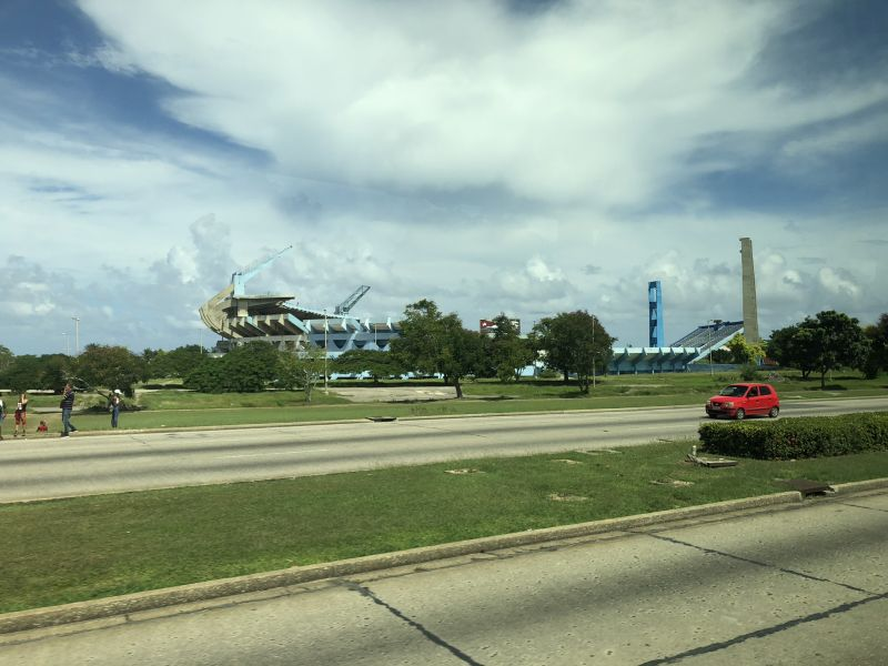 Foto des Stadions für die Panamerikanischen Spiele auf dem Weg Havannas Strand