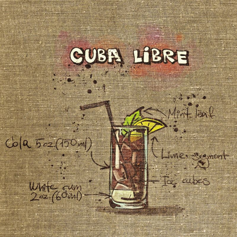 Graphic: receipe for the Cuba Libre