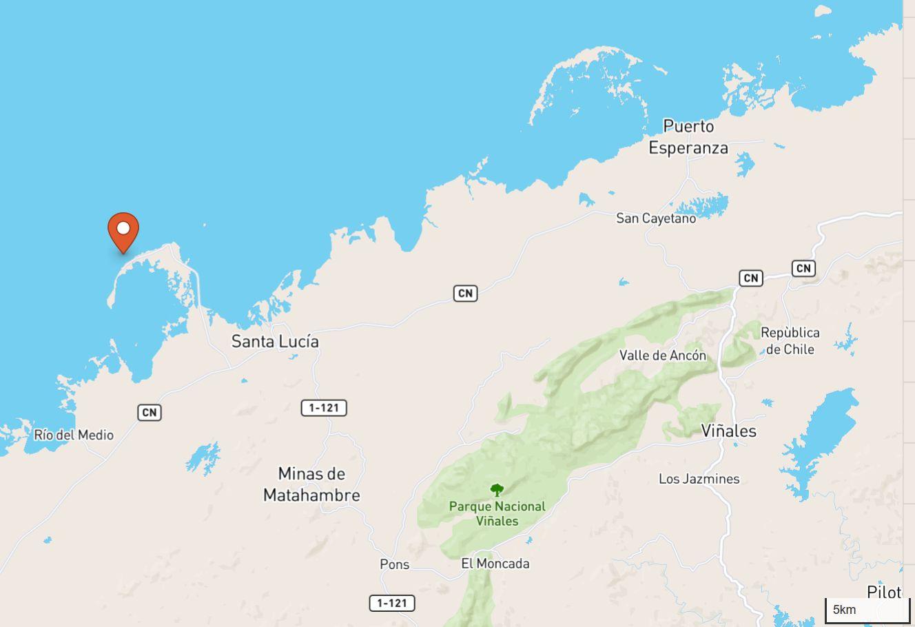Karte der Gegen mit dem Cayo Jutías
