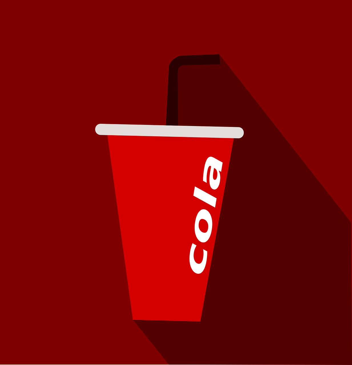 Illustration: Cola-Becher mit Strohhalm