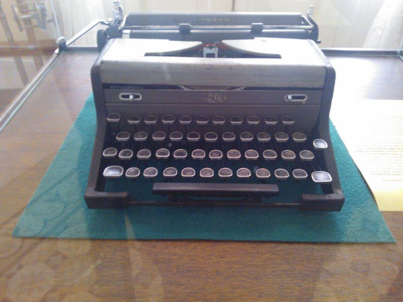 Foto von Hemingways Schreibmaschine