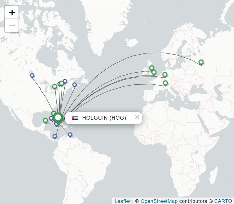 Schema: Flüge vom Flughafen Holguin