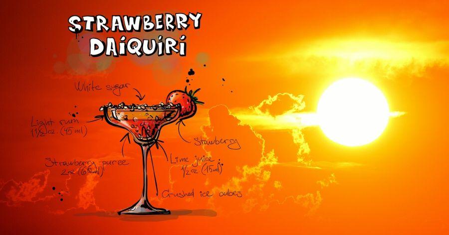 Grafische Darstellung des Strawberry Daiquiri Rezepts