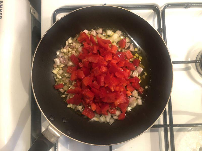 Unser Sofrito, die geschmackliche Basis für den Arroz con Pollo