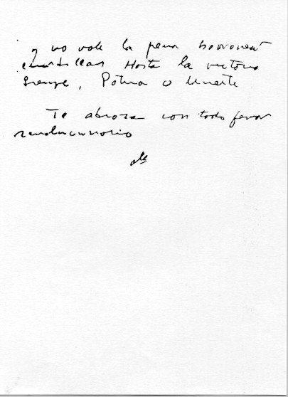 Letzte Seite von Chés Abschiedsbrief